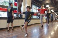 trening w szkole kung fu